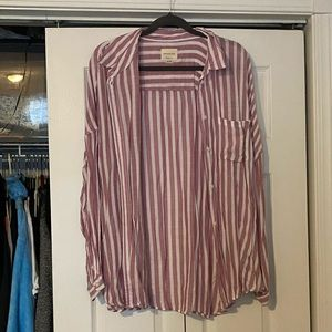 american eagle stripped blouse
